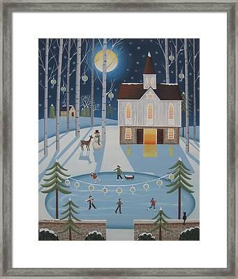 Star Barn Skaters Framed Print