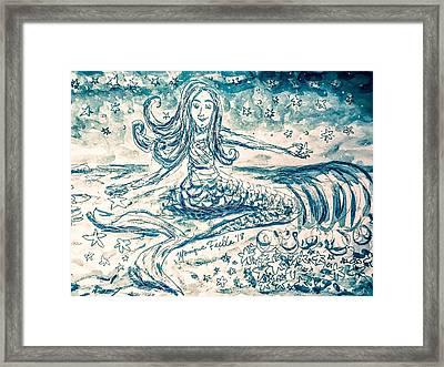 Star Bearer Mermaid Framed Print