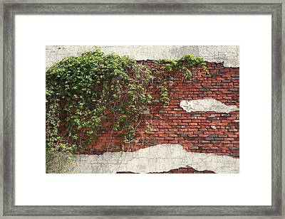 Star Bricks Framed Print