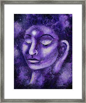 Star Buddha Of Purple Patience Framed Print by Laura Iverson