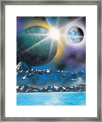 Star Burst Framed Print by Greg Moores