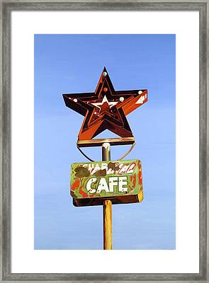 Star Cafe - Route 66 Texas Framed Print by Jeff Taylor