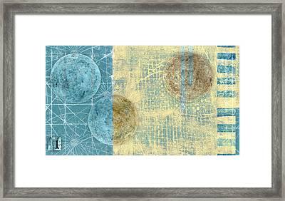 Star Chart Landing Pattern Framed Print by Carol Leigh