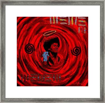 Star Child Framed Print by Malik Seneferu