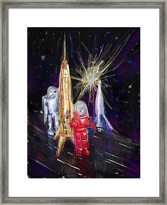 Star City Framed Print by Russell Pierce