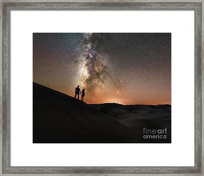 Star Crossed Lovers At Night Framed Print by Michael Ver Sprill