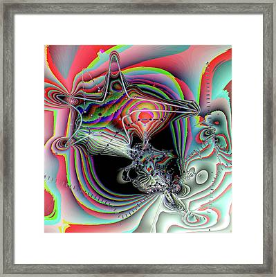 Framed Print featuring the digital art Star Defomation by Ron Bissett