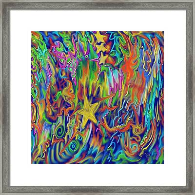 Star E Nite Framed Print