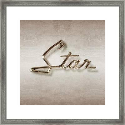 Star Emblem Framed Print