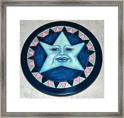 Star Face Lazy Susan Framed Print by Mickie Boothroyd
