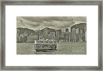 Star Ferry In Hong Kong Framed Print