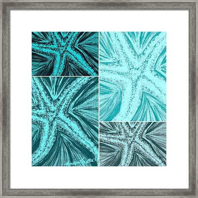 Starfish Pop Art Framed Print