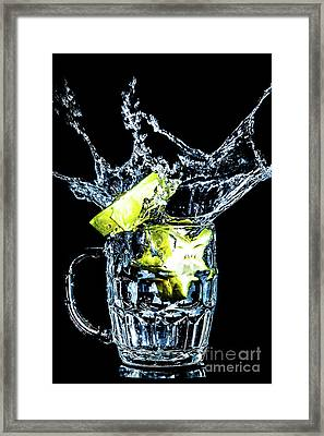 Framed Print featuring the photograph Star Fruit Splash by Ray Shiu
