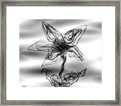 Star Gaze With Me Framed Print by Abstract Angel Artist Stephen K