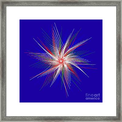 Star In Motion By Kaye Menner Framed Print by Kaye Menner