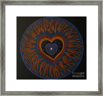 Framed Print featuring the drawing Star In My Heart by Patricia Januszkiewicz