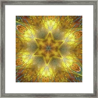 Star Kaleidoscope Framed Print by Wim Lanclus