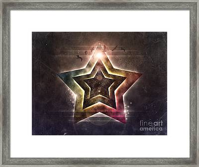 Framed Print featuring the digital art Star Lights by Phil Perkins