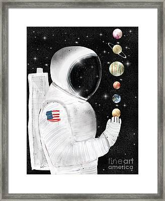 Framed Print featuring the painting Star Man by Bri B