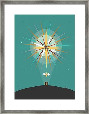 Star Of Bethlehem Framed Print by Ann tygett Jones