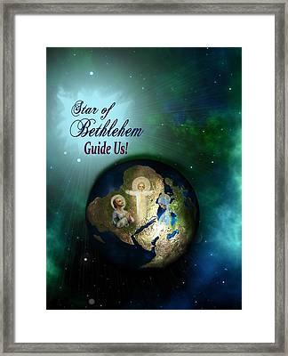 Star Of Bethlehem Framed Print by Myrna Migala