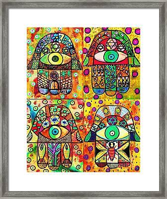 Star Of David Hamsa Framed Print