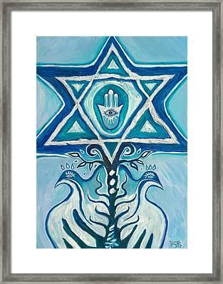 Star Of David Framed Print