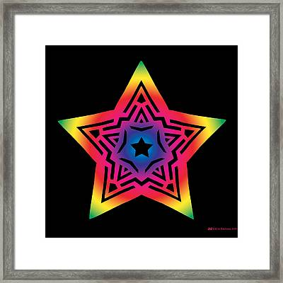 Star Of Gratitude Framed Print by Eric Edelman