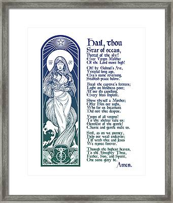 Star Of The Sea Song Framed Print by Lawrence Klimecki