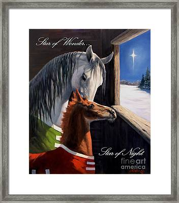Star Of Wonder Framed Print