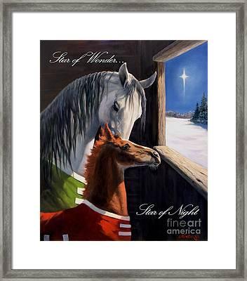Star Of Wonder Framed Print by Jeanne Newton Schoborg