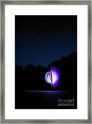 Star Orb Framed Print