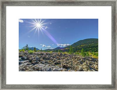 Star Over Creek Bed Rocky Mountain National Park Colorado Framed Print