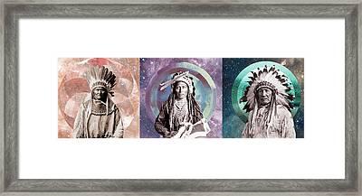 Star People Framed Print by Lori Menna
