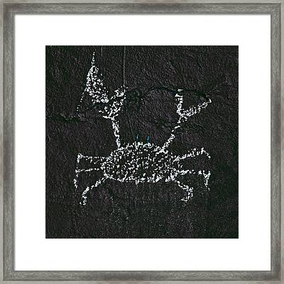 Blue-eyed Constellation On The Wall Of Night Framed Print by Daniel Furon