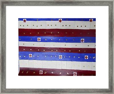 Star Spangled Banner Framed Print by Nancy Graham
