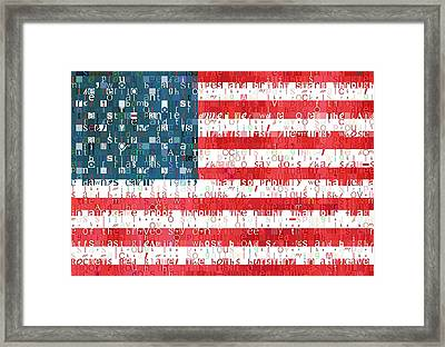 Star Spangled Banner American Flag Framed Print by Dan Sproul