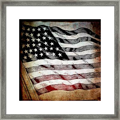 Star Spangled Banner Framed Print by Angelina Vick