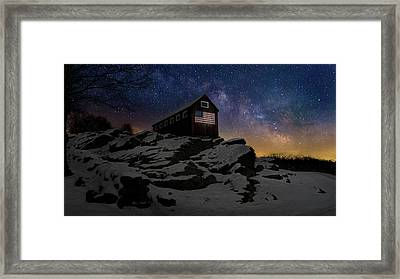 Framed Print featuring the photograph Star Spangled Banner by Bill Wakeley