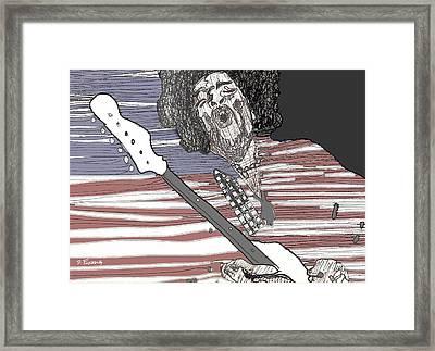 Star Spangled Banner Framed Print by David Fossaceca