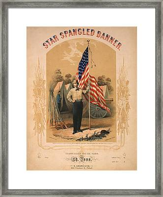 Star Spangled Banner Framed Print by Bill Cannon