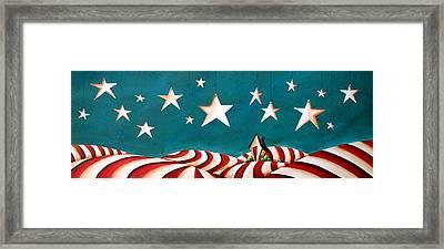 Star Spangled Framed Print by Cindy Thornton