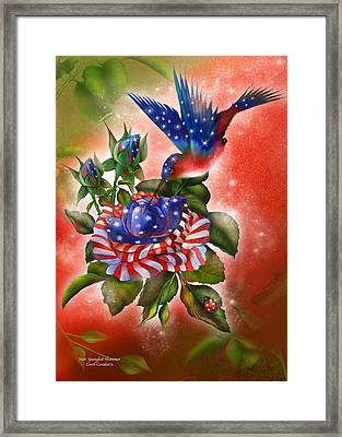 Star Spangled Hummer Framed Print by Carol Cavalaris