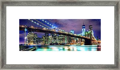 Star Spangled Skyline Framed Print by Az Jackson