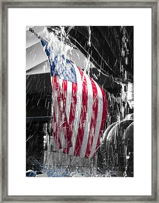 Star Spangled Splash  Framed Print by Scott Campbell