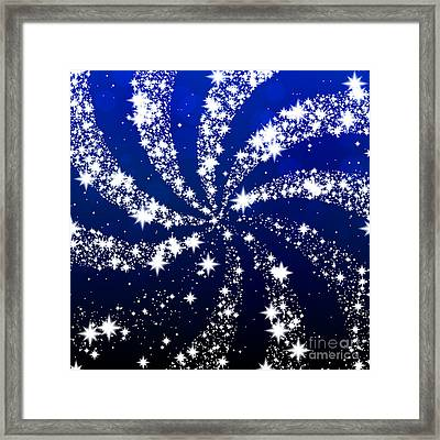 Star Swirl Framed Print