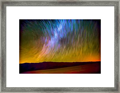 Star Trails Abstract Framed Print by Peter Tellone