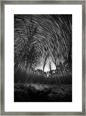 Star Trails - Blue Ridge Parkway Framed Print