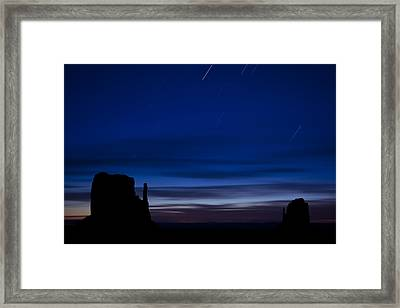 Star Trails Over The West Framed Print by Andrew Soundarajan