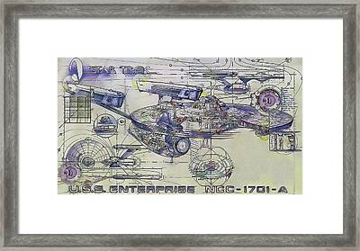 Star Trek  -  U.s.s. Enterprise Framed Print